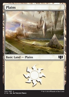 Plains (321) card from Commander 2014