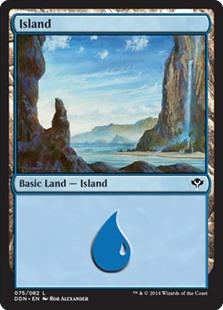 Island (75) card from Duel Decks: Speed vs. Cunning