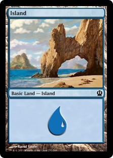 Island (237) card from Theros