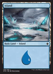 Island (256) card from Khans of Tarkir