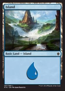 Island (257) card from Khans of Tarkir