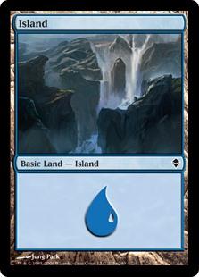 Island (235a) card from Zendikar