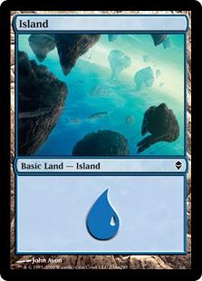 Island (234a) card from Zendikar