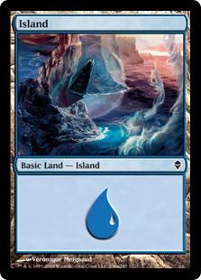 Island (236a) card from Zendikar