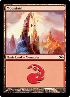 Mountain (150) card from Planechase 2012 Edition