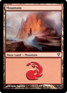 Mountain (240) card from Avacyn Restored
