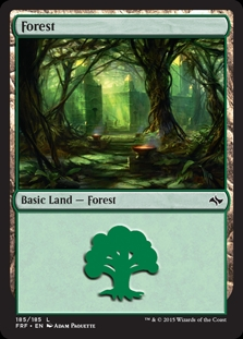 Forest (185) card from Fate Reforged