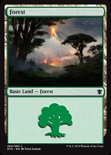 Forest (264) card from Dragons of Tarkir