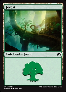 Forest (269) card from Magic Origins