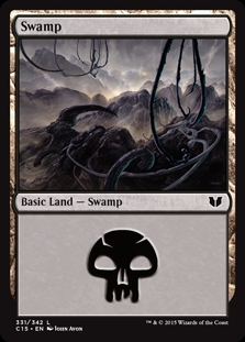 Swamp (331) card from Commander 2015
