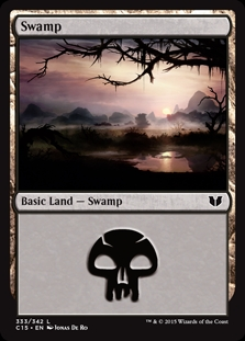 Swamp (333) card from Commander 2015