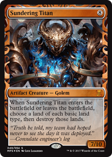 Sundering Titan card from Masterpiece Series: Kaladesh Inventions