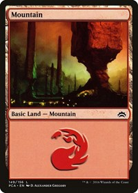 Mountain (149) card from Planechase Anthology