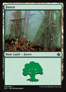 Forest (29) (Garruk vs Liliana) card from Duel Decks: Anthology