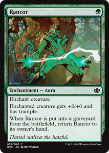 Rancor card from Duel Decks: Anthology