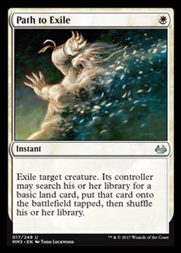 Path to Exile card from Modern Masters 2017