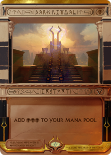 Dark Ritual card from Masterpiece Series: Amonkhet Invocations