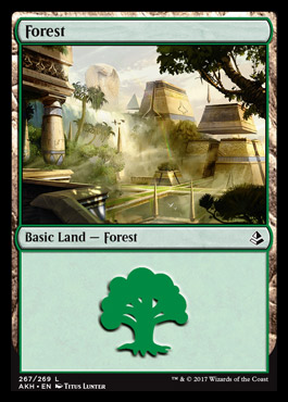 Forest (267) card from Amonkhet