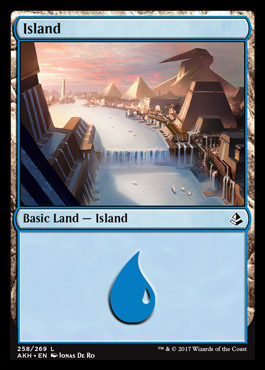 Island (258) card from Amonkhet