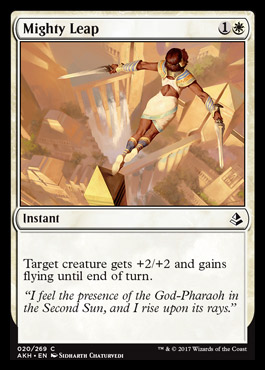 Mighty Leap card from Amonkhet
