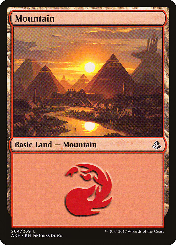 Mountain (264) card from Amonkhet