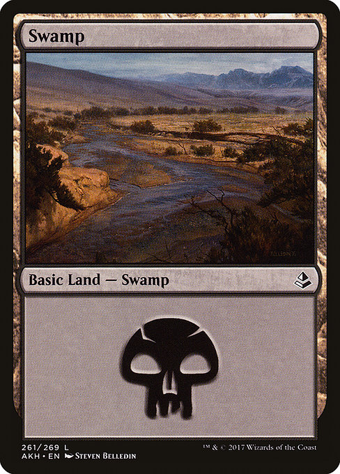 Swamp (261) card from Amonkhet
