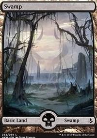 Swamp (252) - Full Art card from Amonkhet