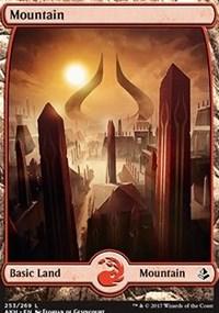 Mountain (253) - Full Art card from Amonkhet