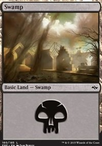 Swamp (180) card from Fate Reforged