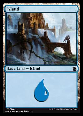 Island (255) card from Dragons of Tarkir