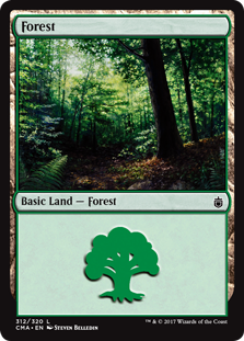 Forest (312) card from Commander Anthology
