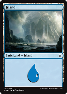 Island (294) card from Commander Anthology