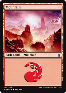 Mountain (306) card from Commander Anthology