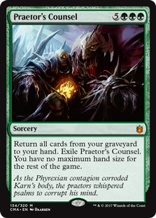 Praetor's Counsel card from Commander Anthology