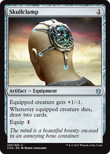 Skullclamp card from Commander Anthology