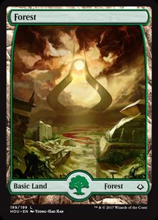Forest (189) - Full Art card from Hour of Devastation