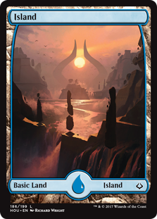 Island (186) - Full Art card from Hour of Devastation