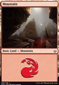 Mountain (196) card from Hour of Devastation