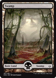 Swamp (187) - Full Art card from Hour of Devastation