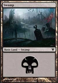 Swamp (258) card from Innistrad