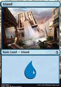 Island (259) card from Amonkhet