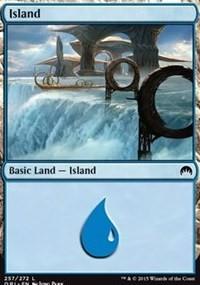 Island (257) card from Magic Origins