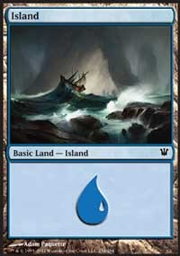 Island (254) card from Innistrad