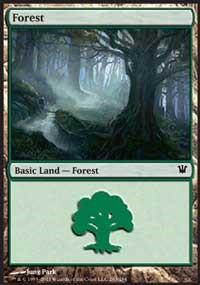 Forest (263) card from Innistrad
