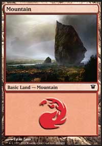 Mountain (261) card from Innistrad