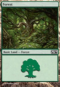 Forest (246) card from Magic 2014 Core Set