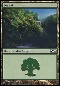 Forest (249) card from Magic 2014 Core Set