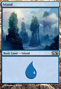 Island (237) card from Magic 2014 Core Set