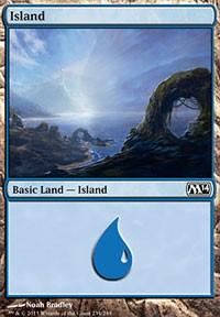 Island (234) card from Magic 2014 Core Set