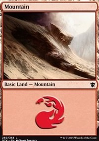 Mountain (260) card from Dragons of Tarkir